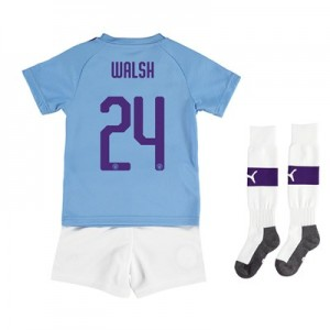 Manchester City Cup Home Mini Kit 2019-20 with Walsh 24 printing