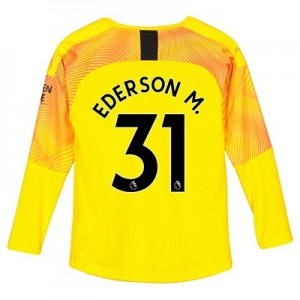 Manchester City Third Goalkeeper Shirt 2019-20 – Kids with Ederson M. 31 printing