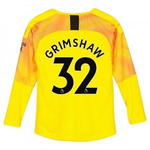 Manchester City Third Goalkeeper Shirt 2019-20 – Kids with Grimshaw 32 printing