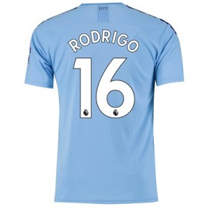Manchester City Home Shirt 2019-20 with Rodrigo 16 printing