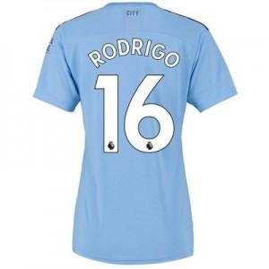 Manchester City Home Shirt 2019-20 - Womens with Rodrigo 16 printing