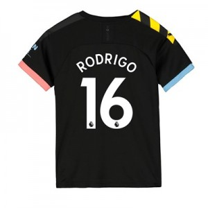 Manchester City Away Shirt 2019-20 – Kids with Rodrigo 16 printing