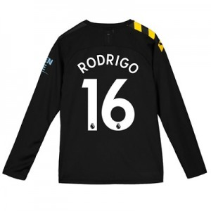 Manchester City Away Shirt 2019-20 – Long Sleeve – Kids with Rodrigo 16 printing