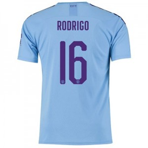 Manchester City Cup Home Shirt 2019-20 with Rodrigo 16 printing