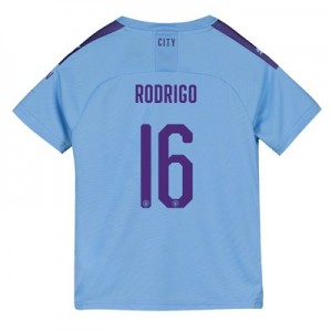 Manchester City Cup Home Shirt 2019-20 – Kids with Rodrigo 16 printing
