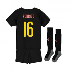 Manchester City Cup Away Mini Kit 2019-20 with Rodrigo 16 printing