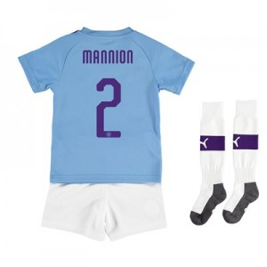 Manchester City Cup Home Mini Kit 2019-20 with Mannion 2 printing