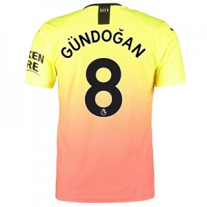 Manchester City Authentic Third Shirt 2019-20 with Gündogan 8 printing