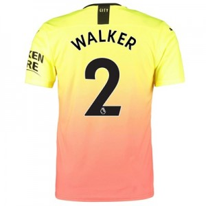 Manchester City Authentic Third Shirt 2019-20 with Walker 2 printing