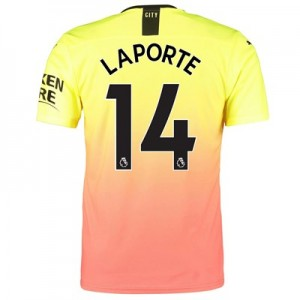 Manchester City Authentic Third Shirt 2019-20 with Laporte 14 printing