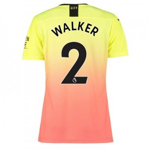 Manchester City Authentic Third Shirt 2019-20 – Womens with Walker 2 printing