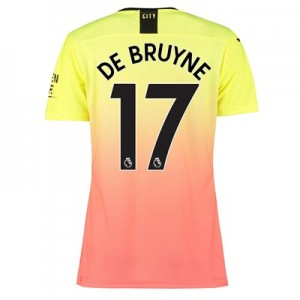 Manchester City Authentic Third Shirt 2019-20 – Womens with De Bruyne 17 printing