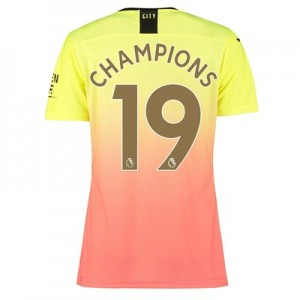 Manchester City Authentic Third Shirt 2019-20 – Womens with Champions 19 printing