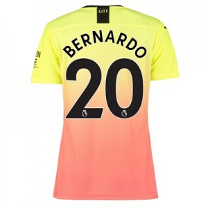 Manchester City Authentic Third Shirt 2019-20 - Womens with Bernardo 20 printing