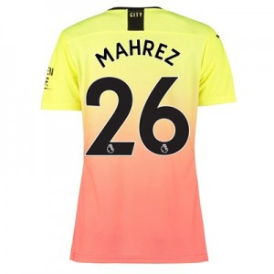 Manchester City Authentic Third Shirt 2019-20 – Womens with Mahrez 26 printing