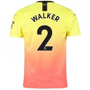 Manchester City Third Shirt 2019-20 with Walker 2 printing