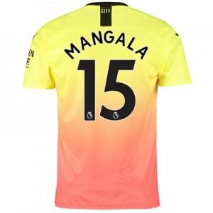 Manchester City Third Shirt 2019-20 with Mangala 15 printing