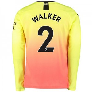 Manchester City Third Shirt 2019-20 – Long Sleeve with Walker 2 printing