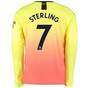 Manchester City Third Shirt 2019-20 – Long Sleeve with Sterling 7 printing