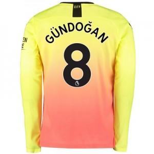 Manchester City Third Shirt 2019-20 – Long Sleeve with Gündogan 8 printing