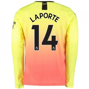 Manchester City Third Shirt 2019-20 – Long Sleeve with Laporte 14 printing