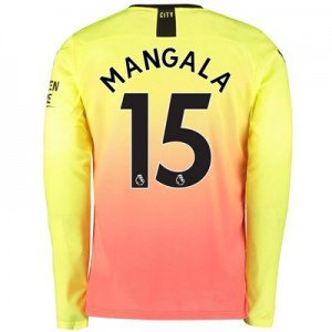Manchester City Third Shirt 2019-20 – Long Sleeve with Mangala 15 printing