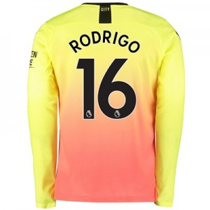 Manchester City Third Shirt 2019-20 – Long Sleeve with Rodrigo 16 printing