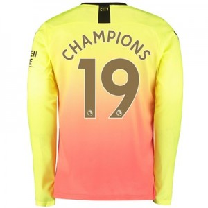 Manchester City Third Shirt 2019-20 – Long Sleeve with Champions 19 printing