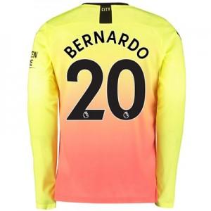 Manchester City Third Shirt 2019-20 – Long Sleeve with Bernardo 20 printing