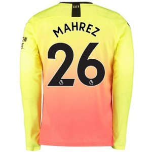 Manchester City Third Shirt 2019-20 – Long Sleeve with Mahrez 26 printing
