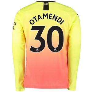 Manchester City Third Shirt 2019-20 – Long Sleeve with Otamendi 30 printing