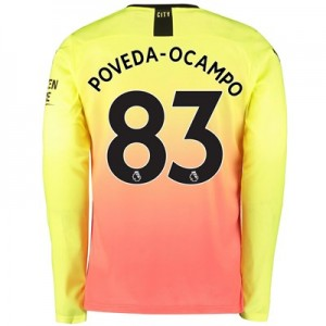 Manchester City Third Shirt 2019-20 – Long Sleeve with Poveda-Ocampo 83 printing