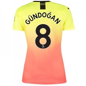 Manchester City Third Shirt 2019-20 – Womens with Gündogan 8 printing