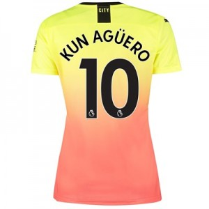 Manchester City Third Shirt 2019-20 – Womens with Kun Agüero  10 printing