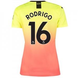 Manchester City Third Shirt 2019-20 – Womens with Rodrigo 16 printing