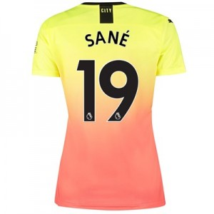 Manchester City Third Shirt 2019-20 – Womens with Sané 19 printing