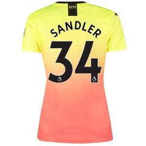 Manchester City Third Shirt 2019-20 – Womens with Sandler 34 printing