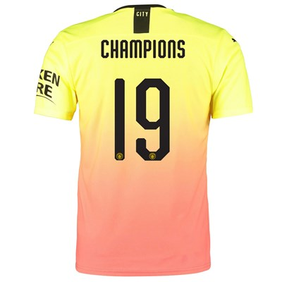 Manchester City Authentic Cup Third Shirt 2019-20 with Champions 19 printing