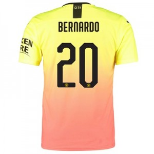 Manchester City Authentic Cup Third Shirt 2019-20 with Bernardo 20 printing