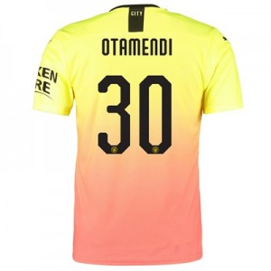 Manchester City Authentic Cup Third Shirt 2019-20 with Otamendi 30 printing