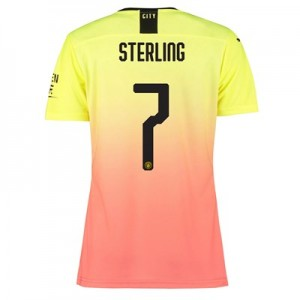 Manchester City Authentic Cup Third Shirt 2019-20 - Womens with Sterling 7 printing