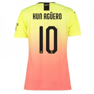 Manchester City Authentic Cup Third Shirt 2019-20 - Womens with Kun Agüero  10 printing