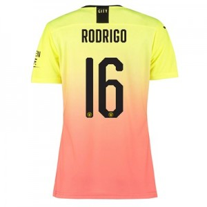 Manchester City Authentic Cup Third Shirt 2019-20 – Womens with Rodrigo 16 printing