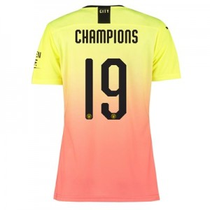 Manchester City Authentic Cup Third Shirt 2019-20 – Womens with Champions 19 printing