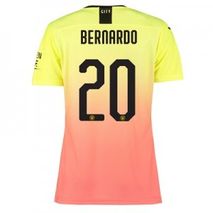 Manchester City Authentic Cup Third Shirt 2019-20 – Womens with Bernardo 20 printing
