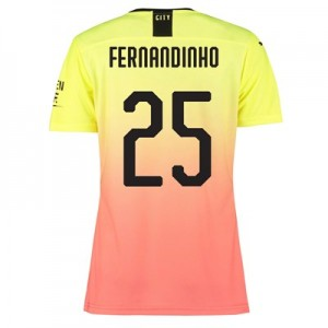 Manchester City Authentic Cup Third Shirt 2019-20 – Womens with Fernandinho 25 printing