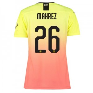 Manchester City Authentic Cup Third Shirt 2019-20 – Womens with Mahrez 26 printing