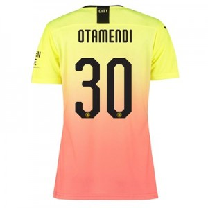 Manchester City Authentic Cup Third Shirt 2019-20 – Womens with Otamendi 30 printing