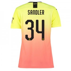 Manchester City Authentic Cup Third Shirt 2019-20 – Womens with Sandler 34 printing