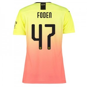 Manchester City Authentic Cup Third Shirt 2019-20 – Womens with Foden 47 printing